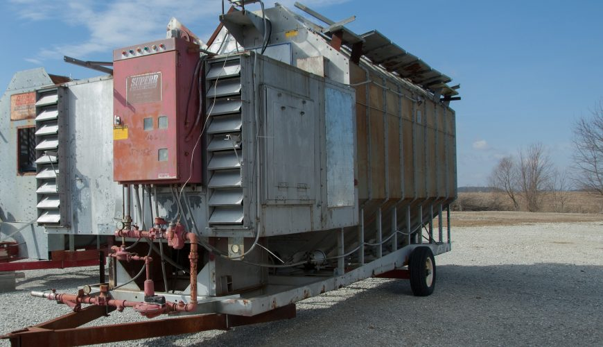 Used Grain Blowers : Used brock superb model sa c grain dryer